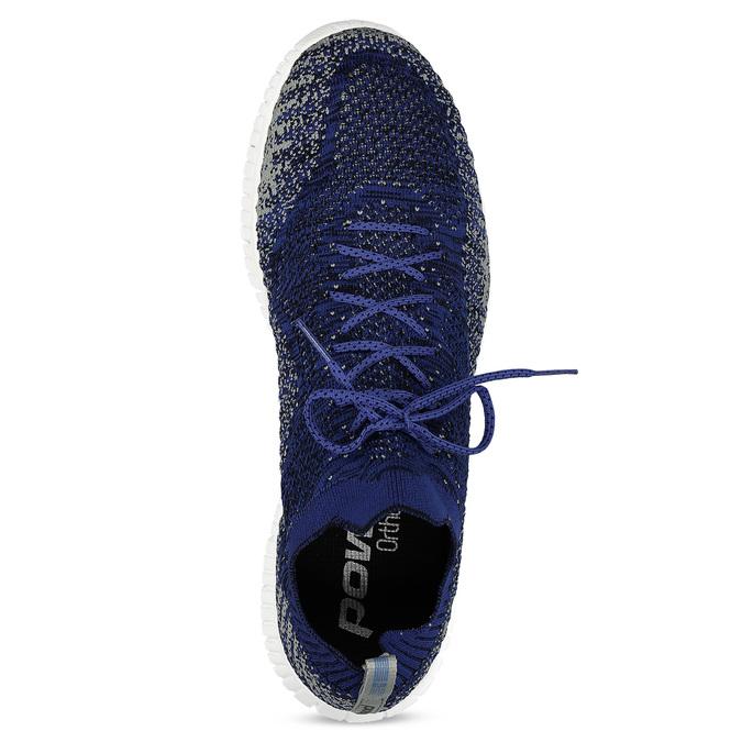 Kotníčkové modré tenisky v pleteném stylu power, modrá, 809-9420 - 17
