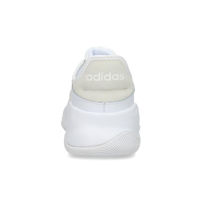 Pánské bílé tenisky s výraznou podešví adidas, bílá, 801-1223 - 15