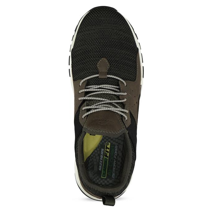 Kotníčkové pánské tenisky s výraznou podešví skechers, khaki, 809-7102 - 17