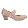 Růžové dámské lodičky z broušené kůže bata, růžová, 623-5646 - 19