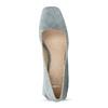 Modré dámské lodičky z broušené kůže bata, modrá, 623-9647 - 17