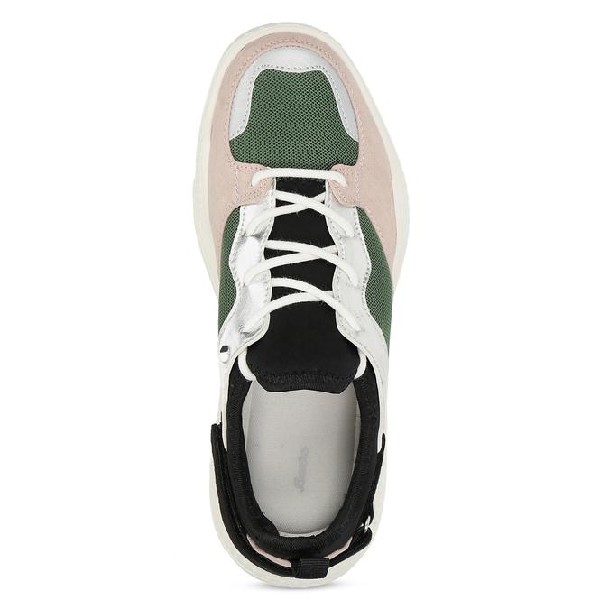 Dámské tenisky s výraznou podešví bata, vícebarevné, 549-0637 - 17