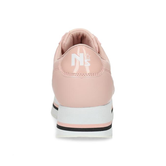 Růžové dámské tenisky s výraznou flatformou north-star, růžová, 641-5608 - 15