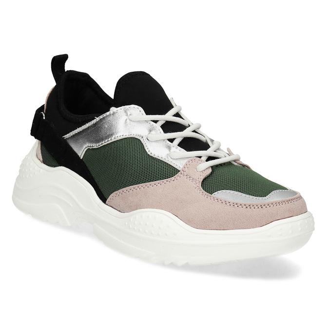Dámské tenisky s výraznou podešví bata, vícebarevné, 549-0637 - 13