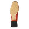 Červené dámské lodičky z broušené kůže bata, červená, 623-5647 - 18