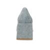 Modré dámské lodičky z broušené kůže bata, modrá, 623-9647 - 15