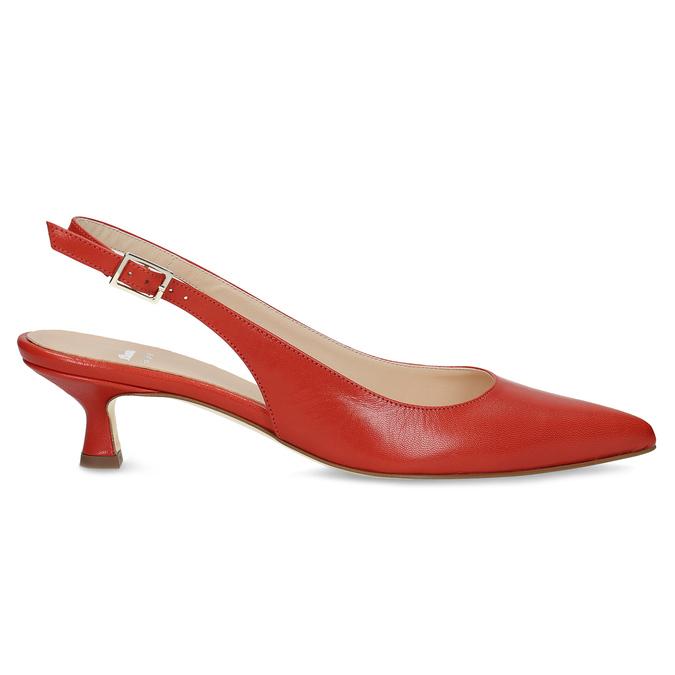 Červené lodičky do špičky bata, červená, 624-5655 - 19