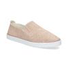 Růžové kožené slip-on tenisky bata, růžová, 533-5601 - 13
