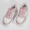 Dívčí dětské tenisky stříbrno-růžové mini-b, růžová, 321-5684 - 16