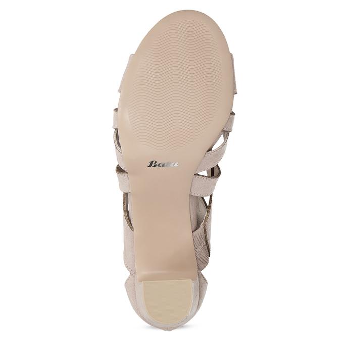 Sandály na stabilním podpatku béžové insolia, béžová, 661-8611 - 18