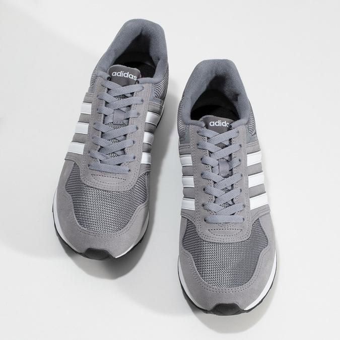 Pánské šedé tenisky kožené adidas, šedá, 803-2102 - 16