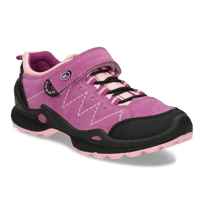kožené dívčí tenisky v outdoorovém stylu mini-b, růžová, 423-5648 - 13
