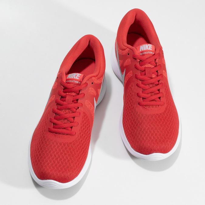 Červené pánské tenisky s bílou podešví nike, červená, 809-5100 - 16