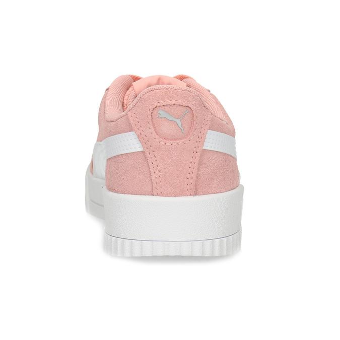 Růžové kožené tenisky s bílými detaily puma, růžová, 503-5188 - 15