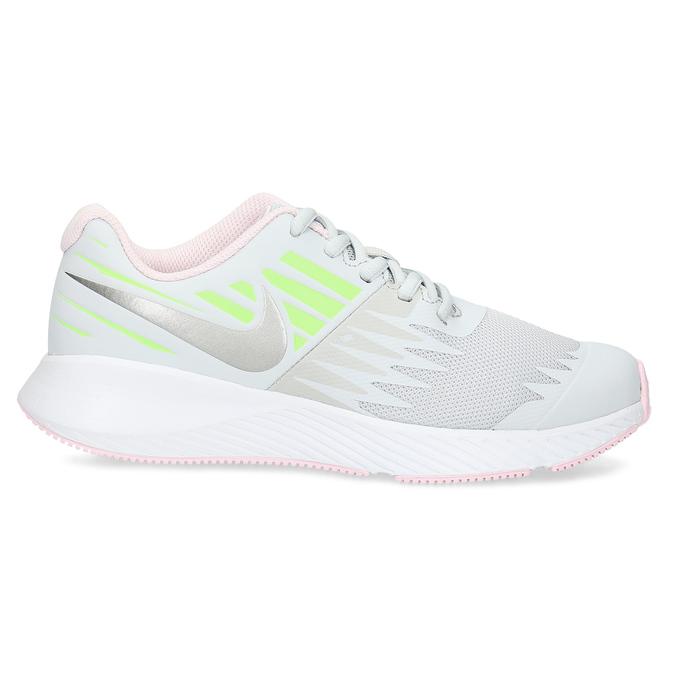 Světle šedé sportovní dětské tenisky nike, bílá, 409-1403 - 19