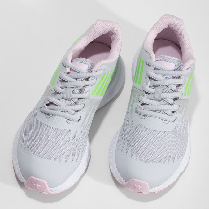 Světle šedé sportovní dětské tenisky nike, bílá, 409-1403 - 16