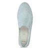 Dámské kožené Slip-on světle modré bata, modrá, 533-9601 - 17