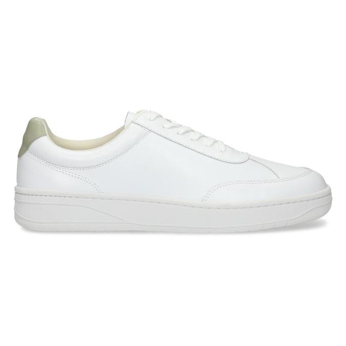 Bílé kožené pánské tenisky vagabond, bílá, 836-1004 - 19