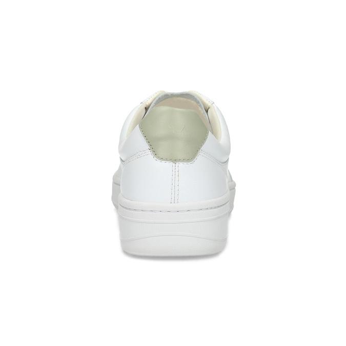 Bílé kožené pánské tenisky vagabond, bílá, 836-1004 - 15