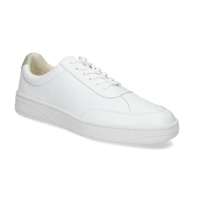 Bílé kožené pánské tenisky vagabond, bílá, 836-1004 - 13