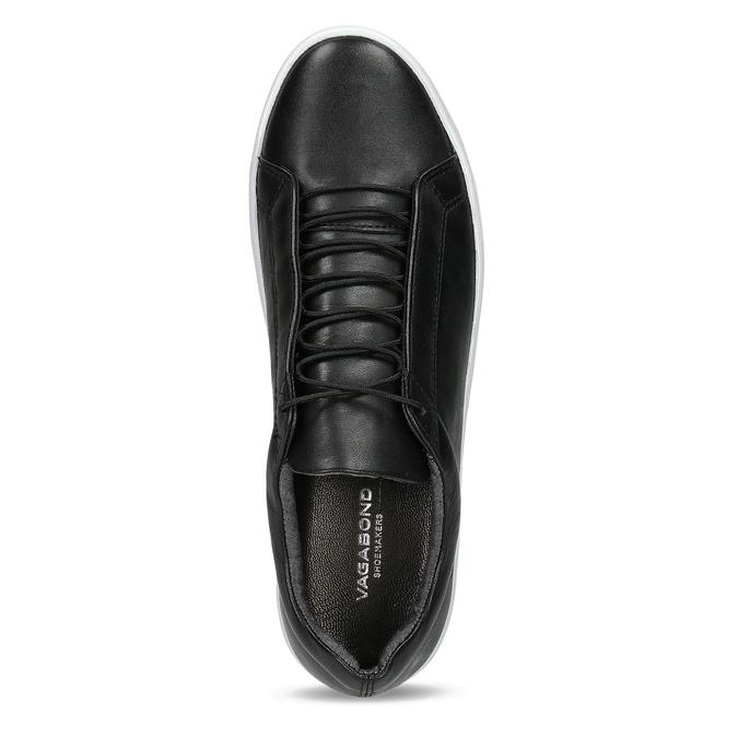 Černé kožené tenisky vagabond, černá, 624-6014 - 17