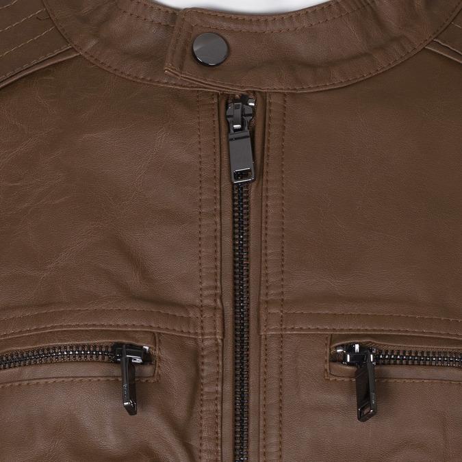 Pánská hnědá koženková bunda bata, hnědá, 971-3245 - 16