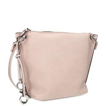 Růžová kabelka s prošitím gabor, růžová, 961-5019 - 13