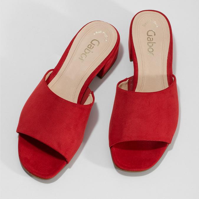 Nazouváky dámské červené gabor, červená, 661-5607 - 16