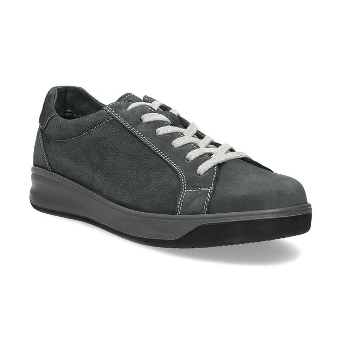 Šedé pánské tenisky z broušené kůže comfit, šedá, 846-2723 - 13