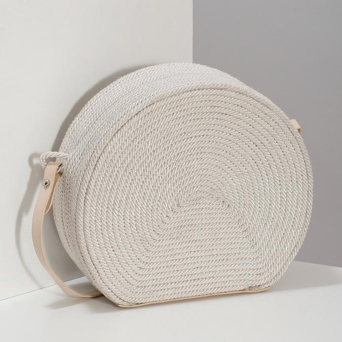 Bílá pletená Crossbody kabelka bata, bílá, 969-1786 - 17