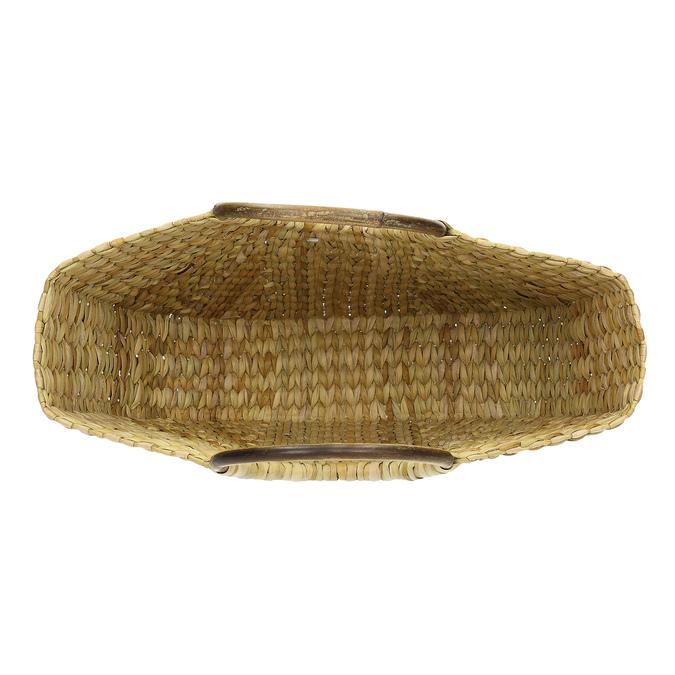 Proutěná dámská plážová kabelka bata, béžová, 969-8784 - 15
