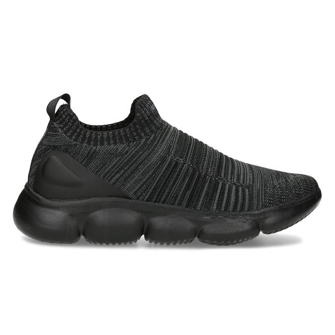 Černé pánské kotníčkové tenisky z úpletu power, černá, 809-6235 - 19