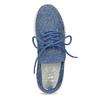 Dámské tenisky z úpletu modré bata-light, modrá, 549-9606 - 17