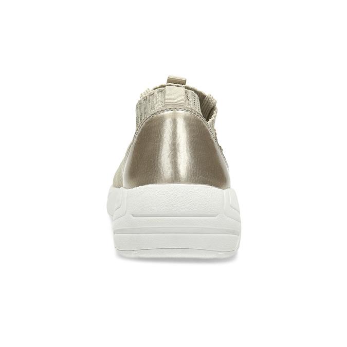 Zlaté dámské tenisky s kamínky bata-light, zlatá, 549-8615 - 15