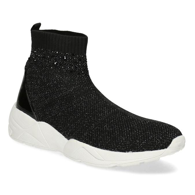 9aa4f43d28d5 Bata light Černá kotníčková dámská obuv s kamínky - Ženy
