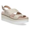 Béžové dámské sandály na platformě bata, zlatá, 561-1631 - 13