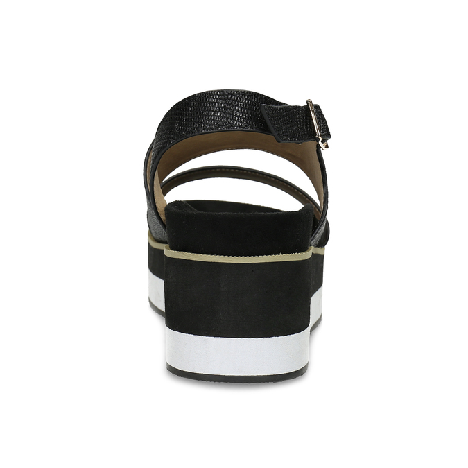 Černé dámské sandály na platformě bata, černá, 561-6631 - 15