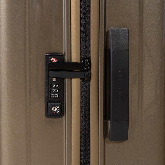 Kvalitní zlatý skořepinový kufr samsonite, zlatá, 960-8024 - 16