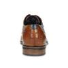Kožené hnědé polobotky s Brogue zdobením bugatti, hnědá, 824-4931 - 15