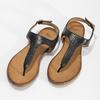 Černé dámské kožené sandály bata, černá, 564-6603 - 16