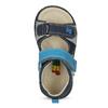 Modré dětské sandály s výrazným prošitím bubblegummers, modrá, 161-9613 - 17