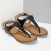 Černé dámské kožené sandály bata, černá, 564-6603 - 26