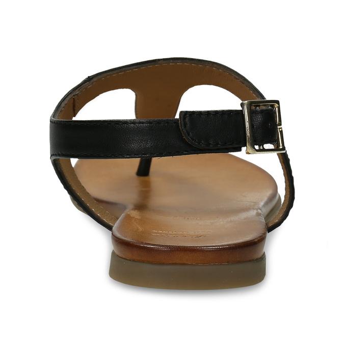 Černé dámské kožené sandály bata, černá, 564-6603 - 15