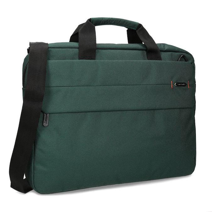 Zelená cestovní taška s popruhem samsonite, zelená, 960-7068 - 13