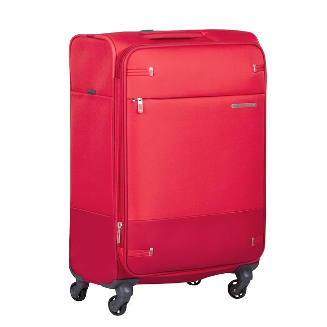 Červený střední textilní kufr samsonite, červená, 960-5039 - 13