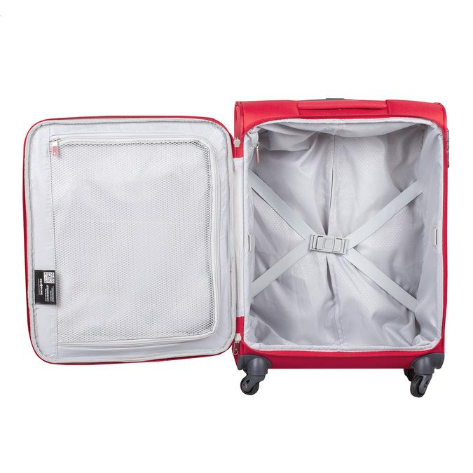 Kvalitní červený textilní kufr samsonite, červená, 960-5037 - 17