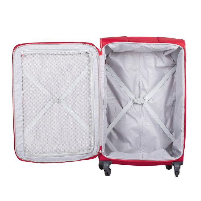 Velký červený textilní kufr samsonite, červená, 960-5041 - 17