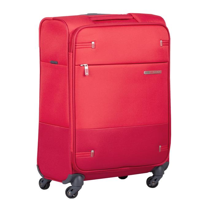 Kvalitní červený textilní kufr samsonite, červená, 960-5037 - 13