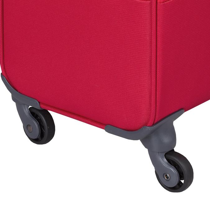 Velký červený textilní kufr samsonite, červená, 960-5041 - 15