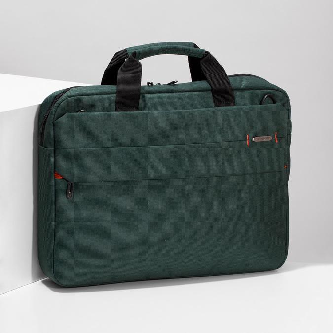 Zelená cestovní taška s popruhem samsonite, zelená, 960-7068 - 17